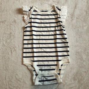 GAP Striped Onesie/ Bodysuit